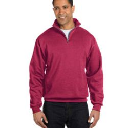 Adult 8 oz. NuBlend® Quarter-Zip Cadet Collar Sweatshirt Thumbnail