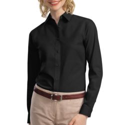 Ladies Long Sleeve Value Poplin Shirt Thumbnail