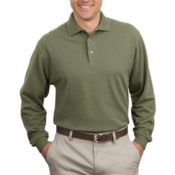 Long Sleeve Heavyweight Cotton Pique Polo Thumbnail