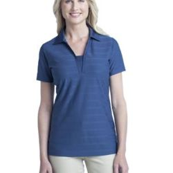 Ladies Horizontal Texture Polo Thumbnail