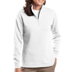 Ladies 1/4 Zip Sweatshirt Thumbnail