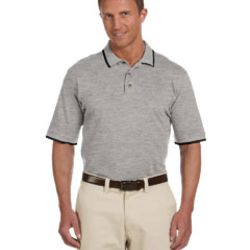 Adult 6 oz. Short-Sleeve Piqué Polo with Tipping Thumbnail