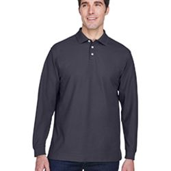 Men's Pima Piqué Long-Sleeve Polo Thumbnail