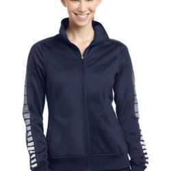 Ladies Dot Sublimation Tricot Track Jacket Thumbnail