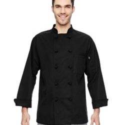 7 oz. Cloth Knot Button Chef Coat Thumbnail