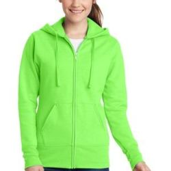 Ladies Core Fleece Full Zip Hooded Sweatshirt Thumbnail
