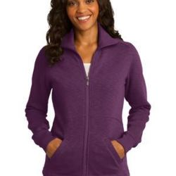 Ladies Slub Fleece Full Zip Jacket Thumbnail