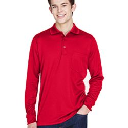 Adult Pinnacle Performance Long-Sleeve Piqué Polo with Pocket Thumbnail
