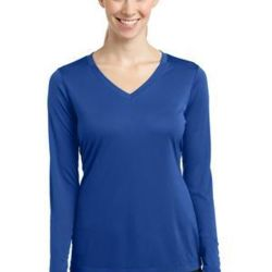 Ladies Long Sleeve PosiCharge™ Competitor™ V Neck Tee Thumbnail